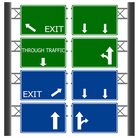 Road signs isolated vector Vector