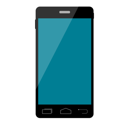 Smart phone vector with blank screen isolated Vector