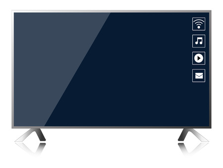 Smart TV isolated vector Vector