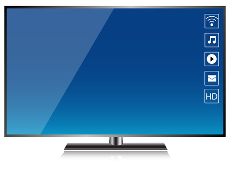 HD TV Smart TV Screen isolated vector Vector