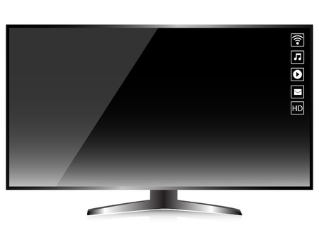 HD TV Smart TV Screen isolated vector Vector