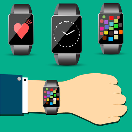 Smart watch concept vector Vector