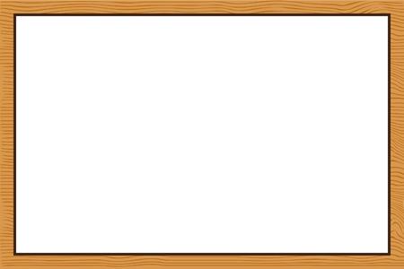 Wood frame texture Vector