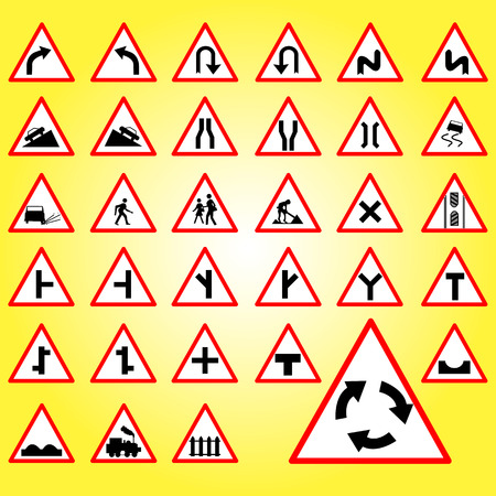 stop light: Traffic signs collection vector