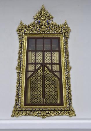 window of buddhist hall,bangkok,Thailand photo
