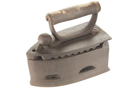 vintage cast iron coal iron Фото со стока