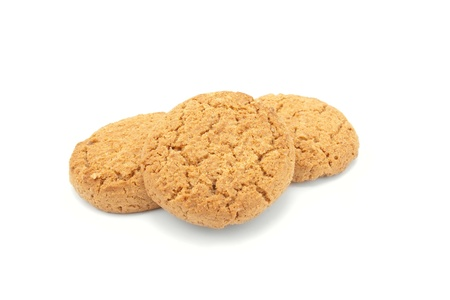 Oatmeal cookies isolate on white background photo