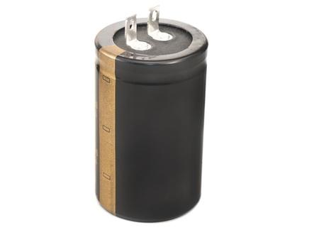 electrolytic: Condensador electrol�tico negro para flash aislado