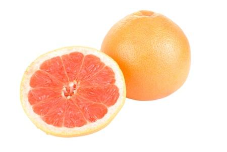 Grapefruits  isolation on  white photo
