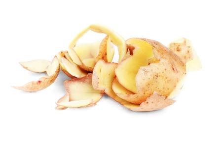 potato peel isolated on the white background