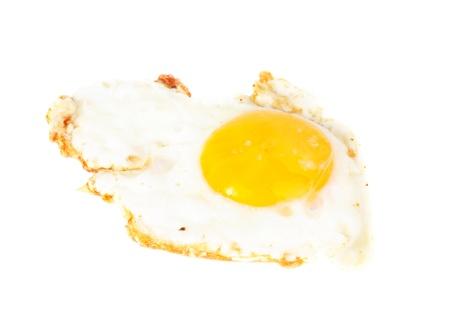 Fried egg isolated  on  white  background Stock Photo - 12200406