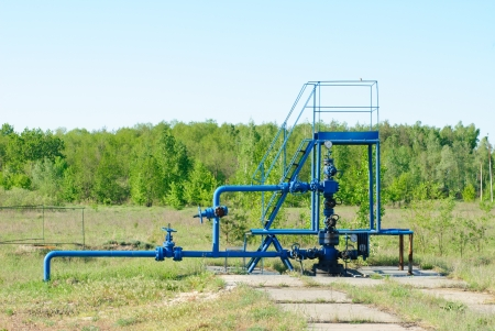 wellhead in the oil and gas industry. photo