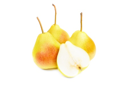 A   fresh pears isolated on white background Stock Photo - 21774971