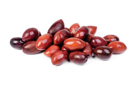 Kalamata olives isolated on white background  photo