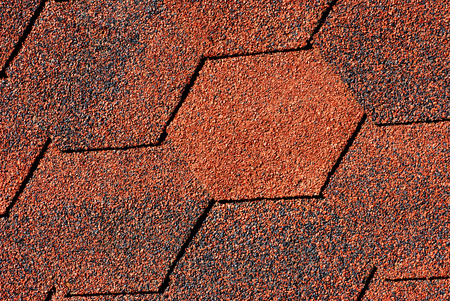 Red - black shingles textures( close -up background) Stock Photo