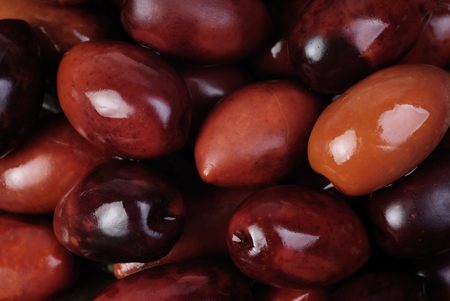 kalamata olives marinated in oil as background