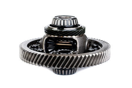 differential gear isolated on a white