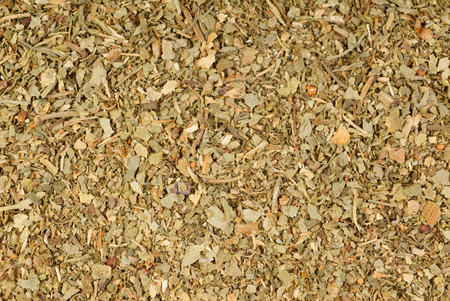 Close up image of khmeli-suneli as backgroumd. Georgian traditional spices