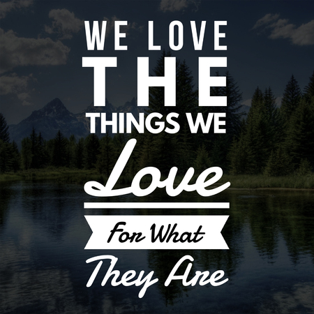Love Quotes We love the things we love for what they are 免版税图像