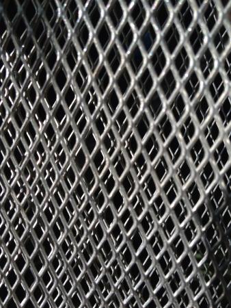 metal grid: Metal grid background Stock Photo