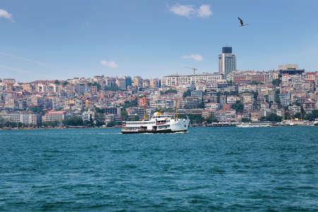 marmara: Passenger ship in the Marmara sea bosphorus Stock Photo