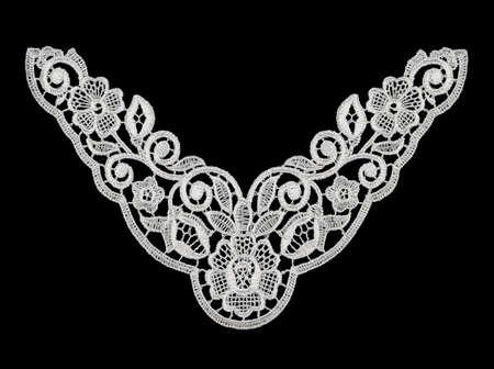 guipure: Lace Guipure Collar Stock Photo
