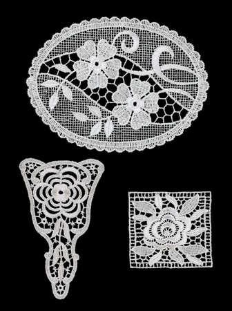 collar: Lace Guipure Collar Stock Photo