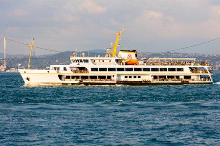 seaway: Passenger ship in the Marmara sea bosphorus Editorial