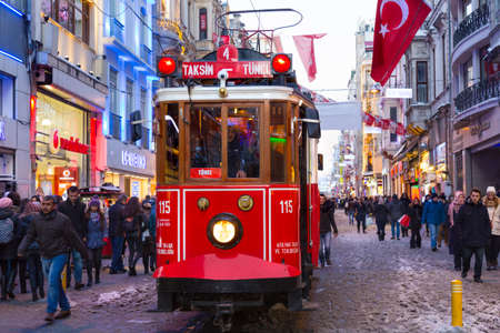 reviving: The nostalgic tram which runs on stiklal Avenue, between Taksim Square and Tnel, was also re-installed in the early 1990s with the aim of Reviving the historic atmosphere of the district.