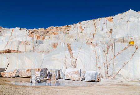 Marmur kamieniołomu Zdjęcie Seryjne
