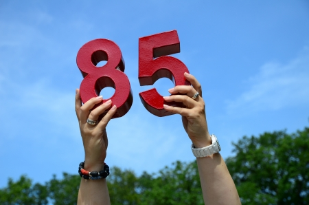 85th Birthday Numbers in Sky Stock Photo - 15508242