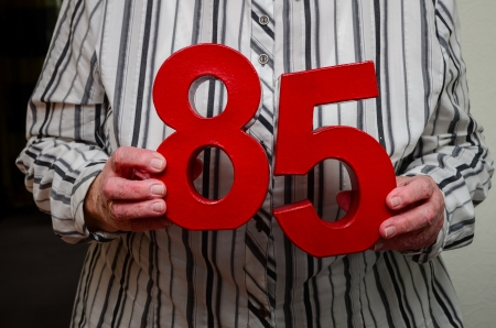 experiencing: 85th birthday Stock Photo