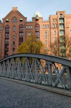famous old Speicherstadt in Hamburg, warehouse district photo