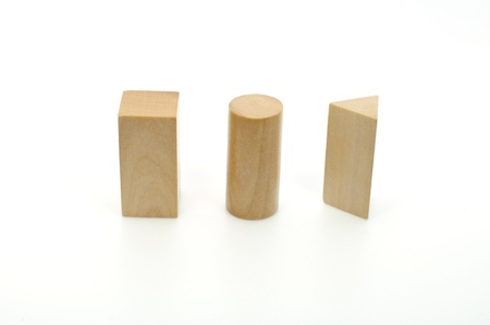 prisma: Tres s�lidos de geometr�a - cilindro, prisma Rectangular, prisma Triangular