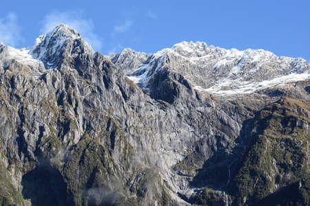 Mountainous winter outdoor landscape