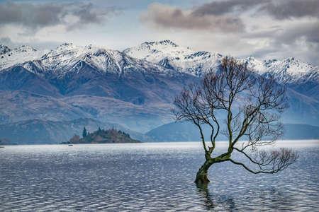 Mountainous winter landscape, New Zealand Stock fotó