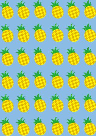 to shading: Pineapple Shading Illustration