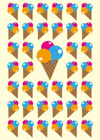 ice: ice cream