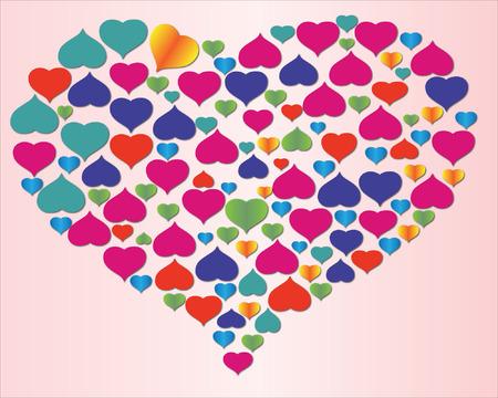 Many hearts in one heart