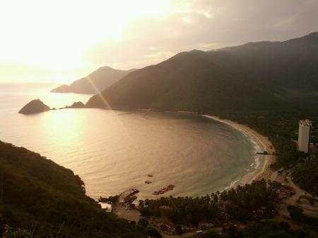 Cata Bay from Aragua State. Venezuela. Stock Photo