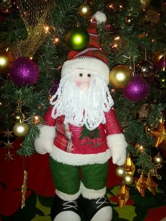 Santa in tree