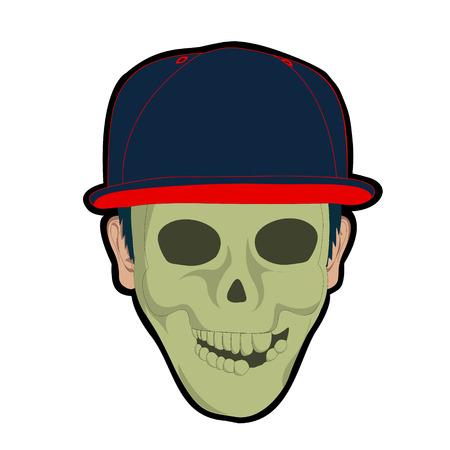skull mask: man in skull mask