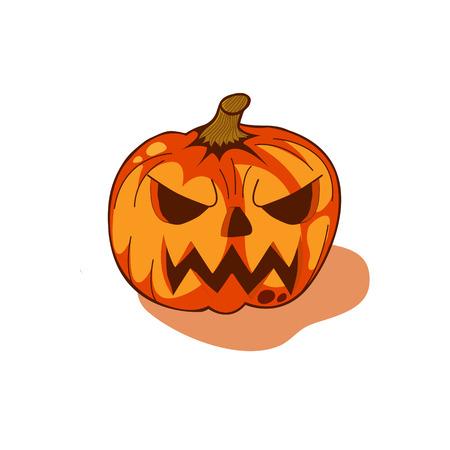 illustrators: pumpkin vector for halloween, pumpkin vector