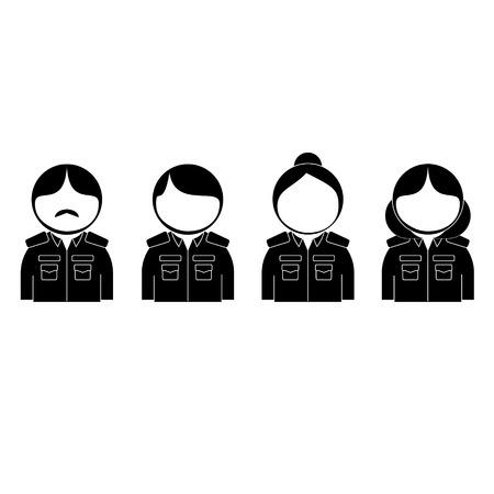 bureaucrat: thai bureaucrat icon Illustration