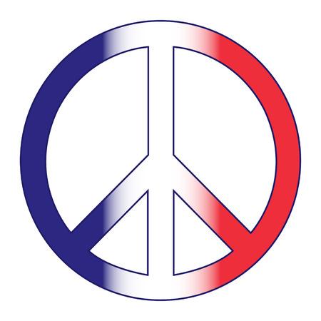 illustrators: peace of french symbol