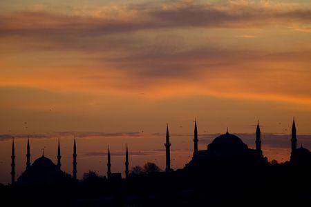 Istanbul silhouette Stok Fotoğraf - 6239074