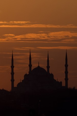 A mosque silhouette of Istanbul