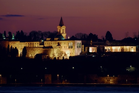 topkapi: Another nice sunset of Istanbul,Turkey. Topkapi Palace was the palace of Ottoman emperors
