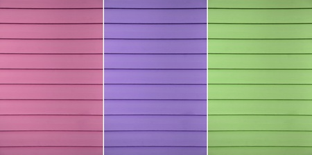 fuga:  A multi colored design example of a siding which has thin fuga lines transversely Stock Photo