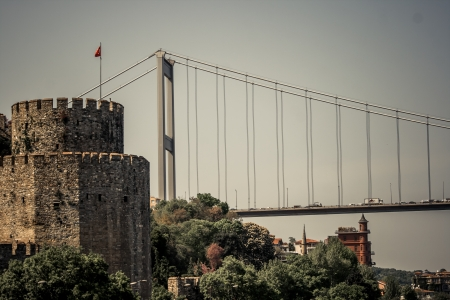 Rumeli Fortress which is built by Ottomans to protect entrance from Bosphorus